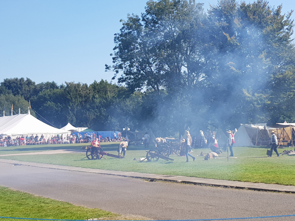 Cannon Fire at England's Medieval Festival