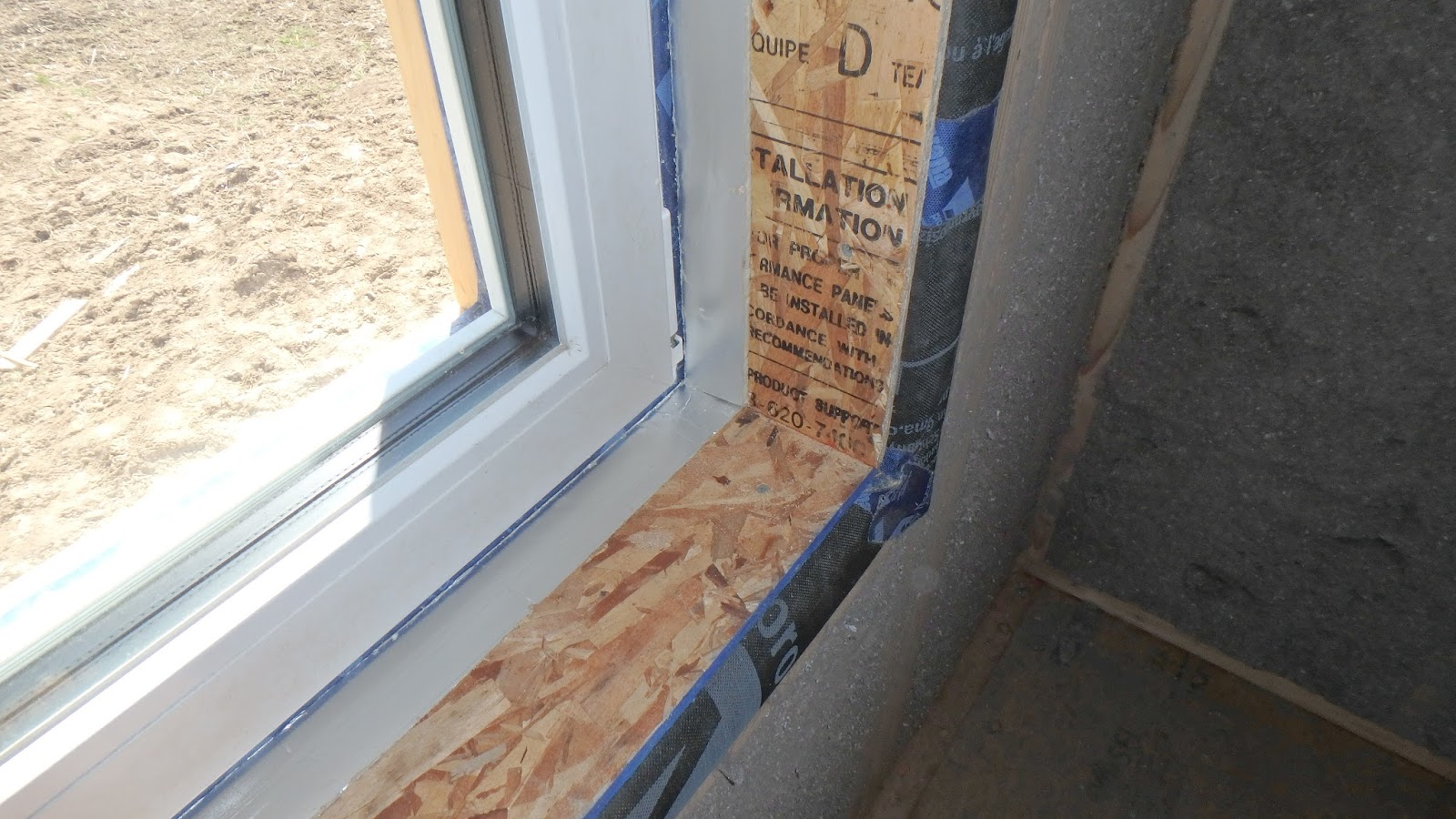 Rochester passive house ready for drywall for Drywall around windows