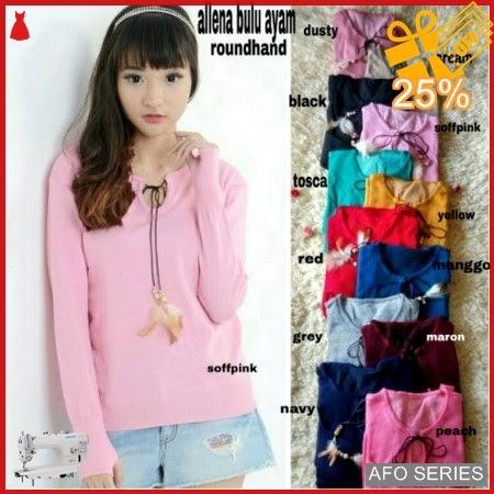 AFO644 Model Fashion Allena Bulu Ayam RH LD Murah BMGShop