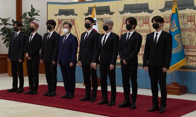 BTS With President Moon Jae-In Receives Diplomatic Passports