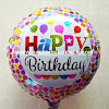 Balon Foil Bulat Motif HAPPY BIRTHDAY / Balon Foil Bulat HBD (14)