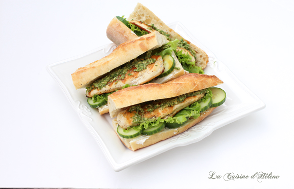 Chicken Sandwich with Arugula Pesto