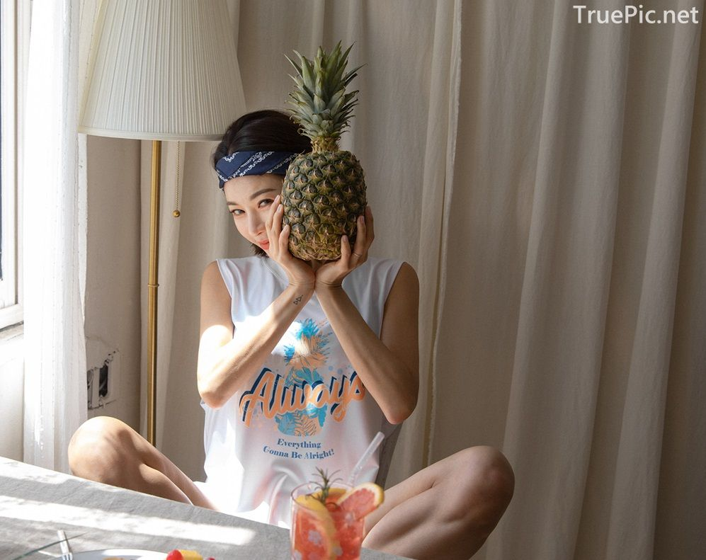 Korean model and fashion - An Seo Rin - Summer personality clothing for young girls - Picture 5