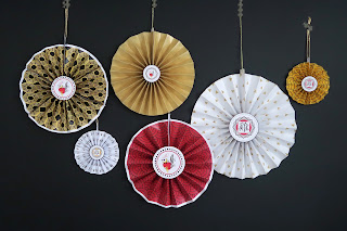 Chinese New Year paper rosettes