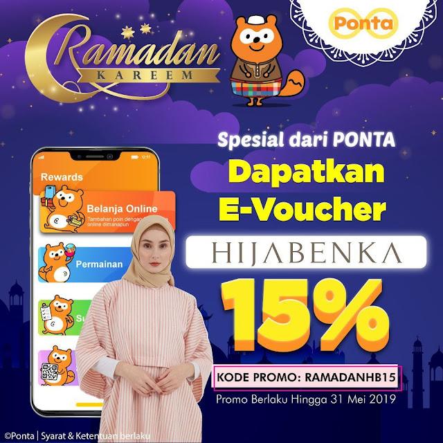 #PONTA - #Promo EVoucher Diskon Hijabenka Sambut Lebaran (s.d 31 Mei 2019)