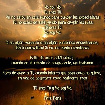 Oración de la Gestalt de Fritz Perls
