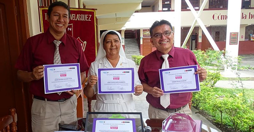 Colegio Ignacia Velásquez de Moyobamba recibirá dron y kit de materiales por ganar concurso nacional del FONDEP
