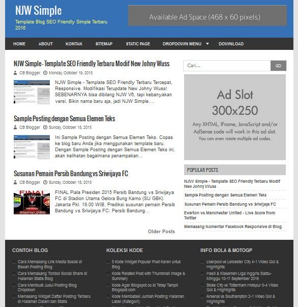 New johny wuss simple seo fast loading and responsive blogger new johny wuss simple fast loading responsive blogger template pronofoot35fo Images