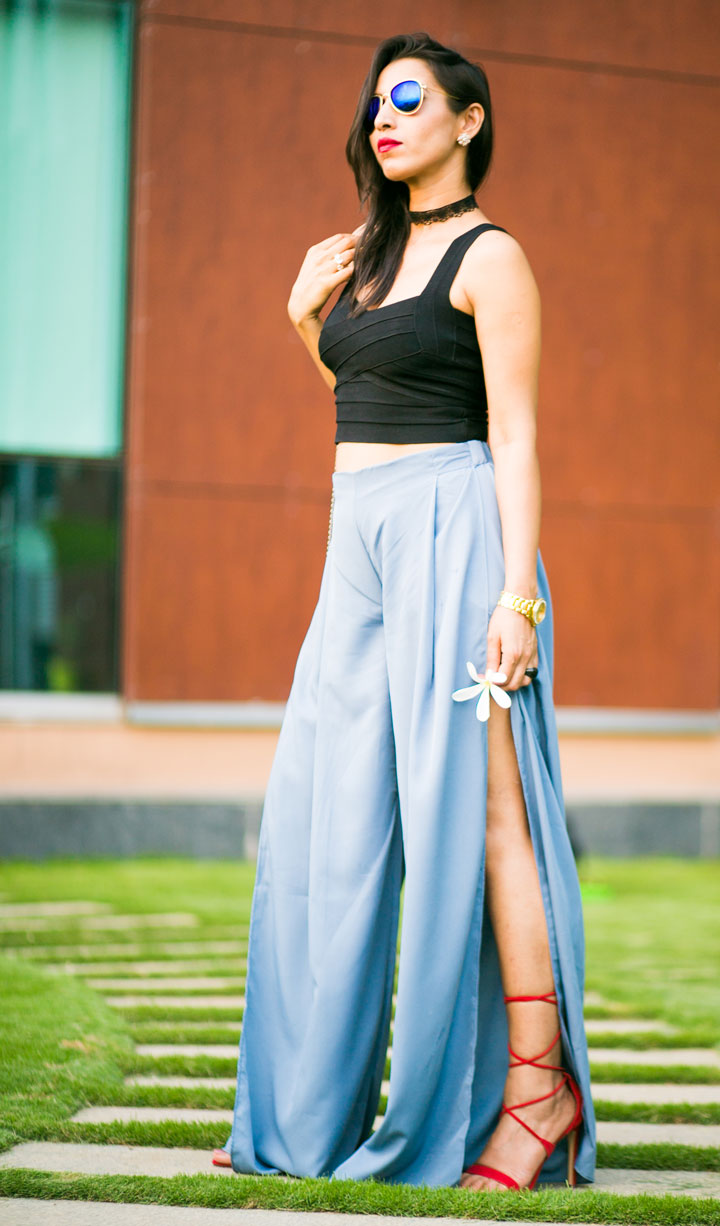 how to wear palazzo pants indian style
