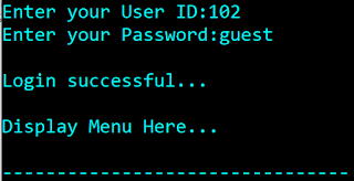C Project Login Check Function / User ID Password Module