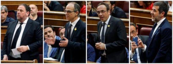 Piden a España liberar a tres líderes independientes catalanes