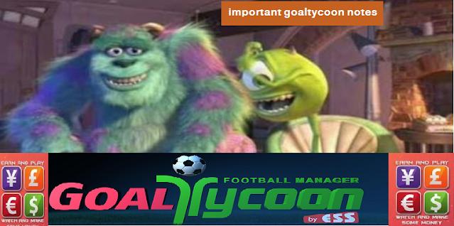 تنبيهات وملاحظات هامة لكل جديد في جول تايكون important goaltycoon notes