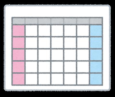 スケジュールが書かれていないカレンダーのイラスト