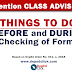 Things to do Before and During Checking Forms