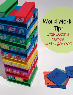 Using Uno Stack in the Classroom during Word Work Activities
