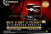 Promo CINEMAXX Buy 2 Get 3 Ticket dengan menggunakan Kartu Kredit & Debit Bukopin