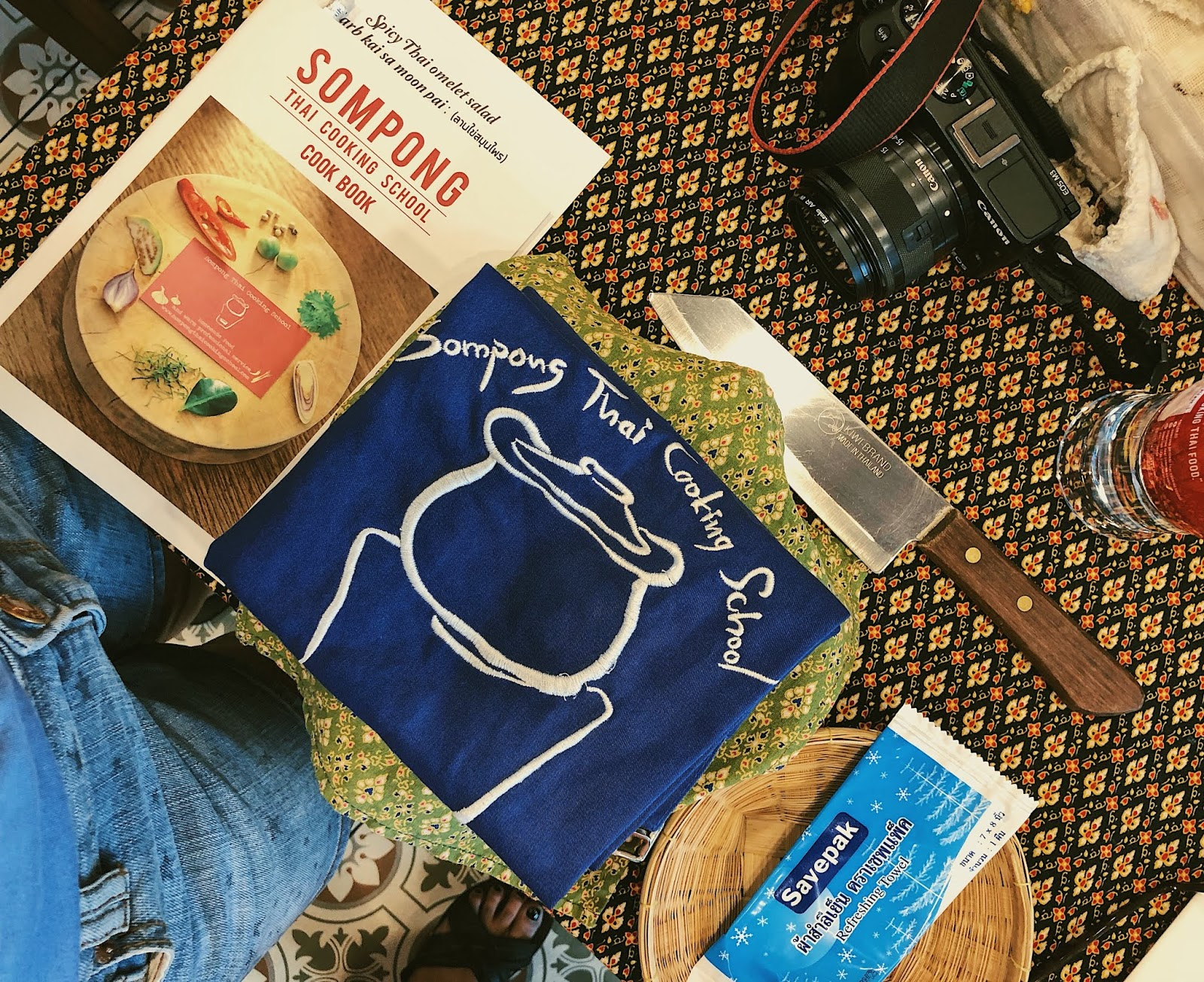 The cookbook and apron we will be using