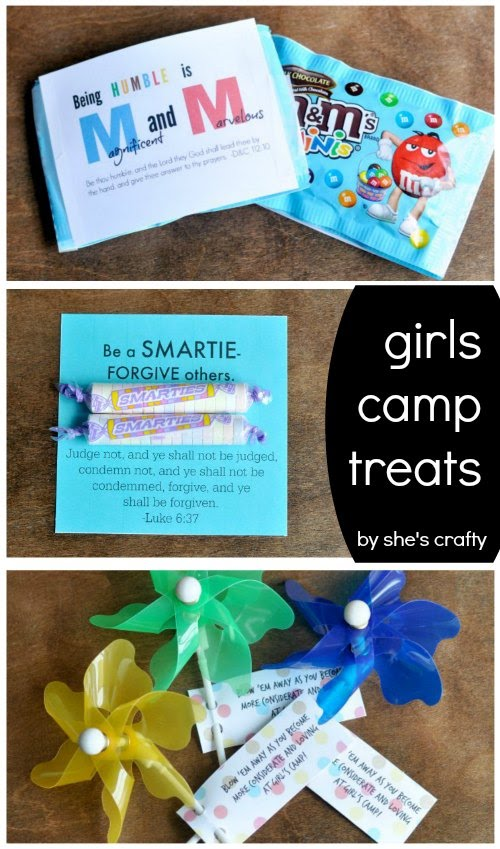 Girls Camp Treat Handouts with Free Printables