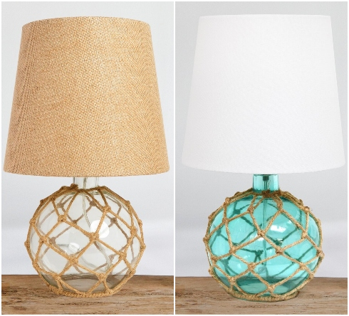 Glass Rope Table Lamps