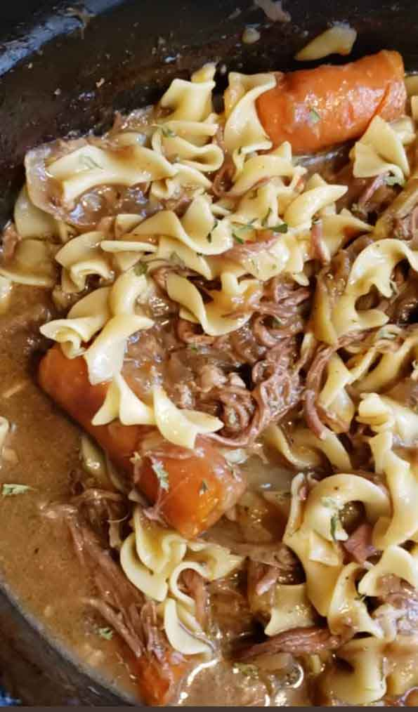 Loaded Beef and Noodles