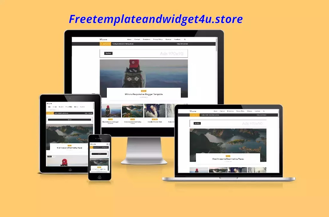 Mizuna Pro Responsive Blogger Template free download.