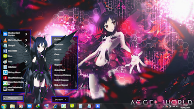 Theme Anime Windows 7 Kuroyukihime from Accel World 1