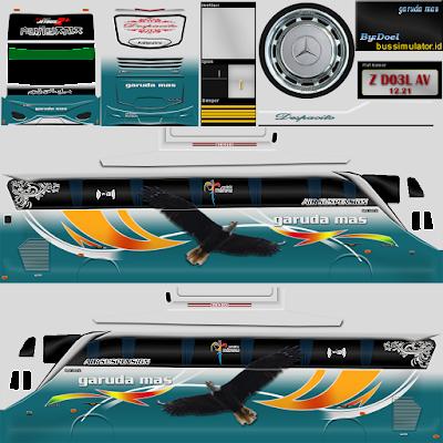 Download Livery Bussid Bimasena SDD Garuda Mas