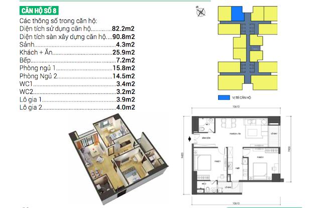 Thiết kế căn hộ số 08 Housinco Grand Tower