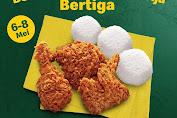 Promo McDonalds 3 Pcs Ayam + 3 Nasi Rp 50.000 Berlaku 6 - 8 Mei 2020
