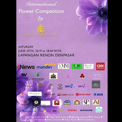 International flower competition by Hotel Hanging Gardens of Bali