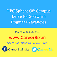 HPC Sphere Off Campus Drive for Software Engineer Vacancies
