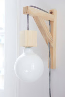 lamparas hechas con madera