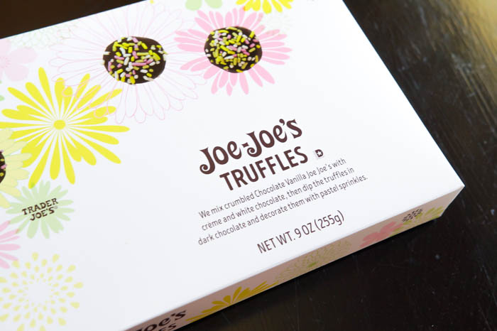 a review of Trader Joe's Joe Joe's Truffles | weekly #traderjoes review series from bakeat350.net