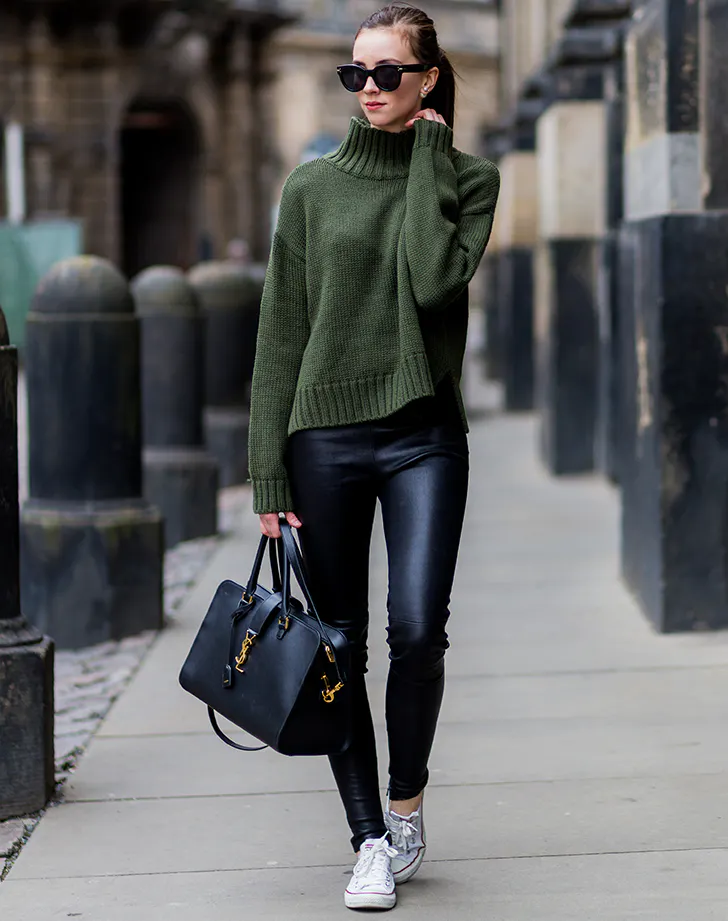 Can a Leather Leggings Outfit Look Sophisticated? Yes! Here Are 12 to Try Out Now