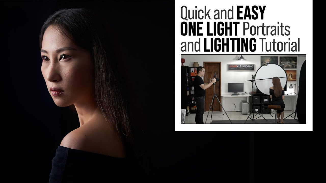 How to Set Up a SIMPLE Home Based Photography Studio with One Light