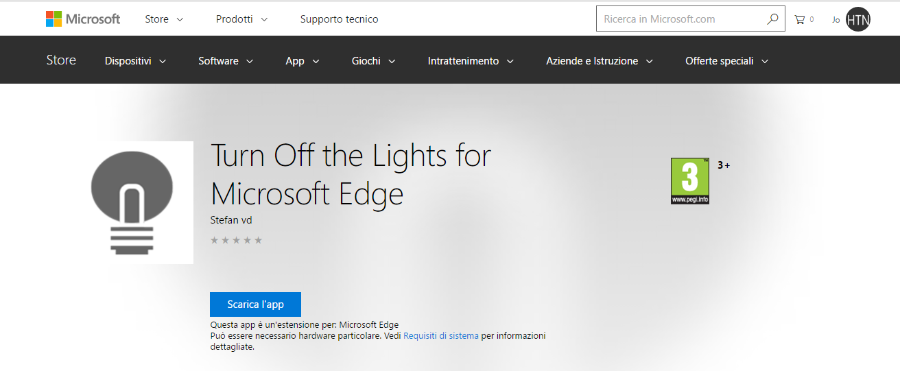 L'estensione Turn Off the Lights per Microsoft Edge arriva nel Windows Store HTNovo