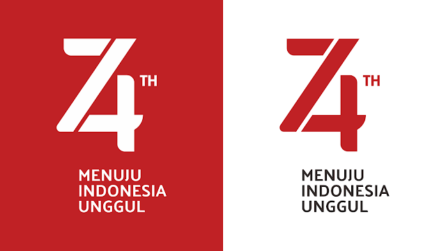 Logo Resmi Hut RI 74 - Tahun 2019