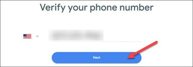 تحقق من الرقم وانقر فوق التالي