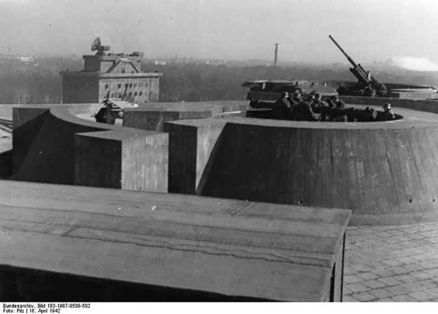 The Berlin Zoo-Flak Tower on 16 April 1942 worldwartwo.filminspector.com
