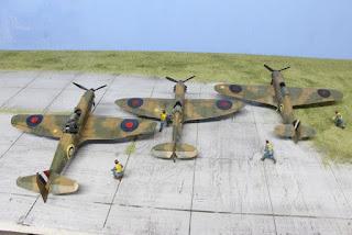 Maquettes de la Bataille de l'Angleterre