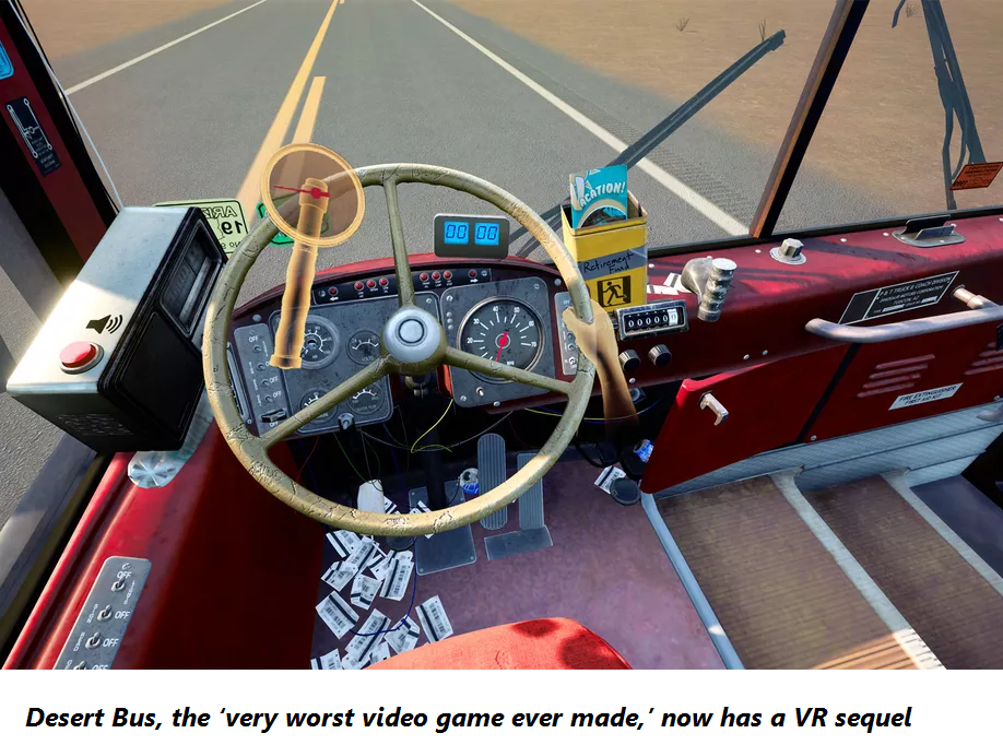 Desert Bus, the 'very worst video game ever made,' now has a VR sequel