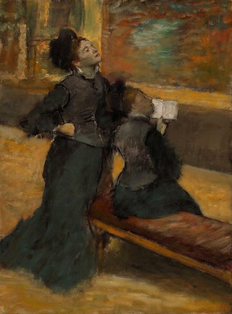Эдгар Дега - Посещение музея (1879-1890)