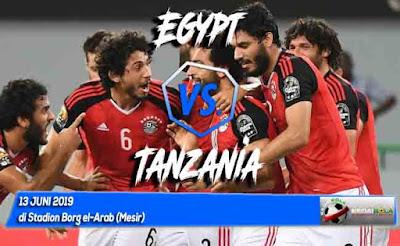 مشاهدة مباراة مصر وتنزانيا بث مباشر اليوم 13-6-2019 في مباراة ودية