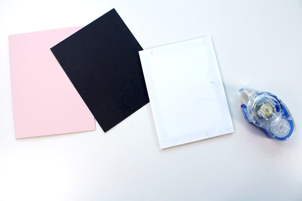 Assemble the handmade card with tombow adhesive roller.