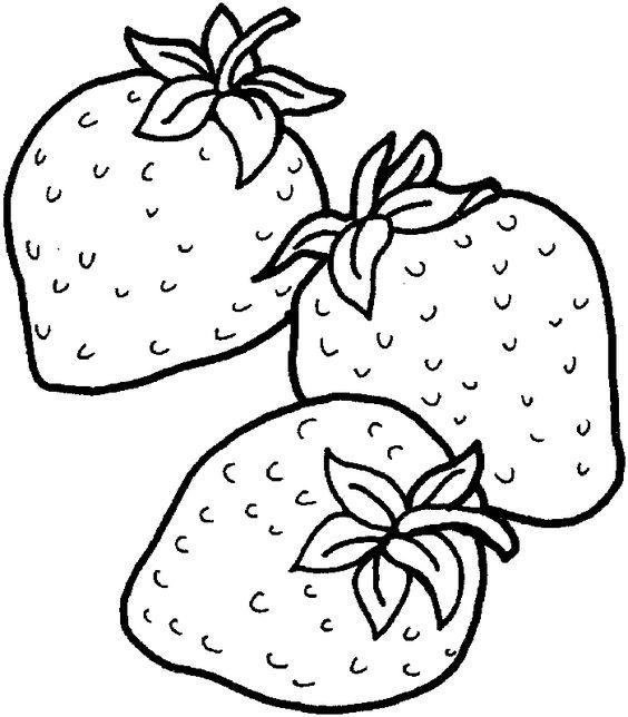 Hình tô màu ba quả dâu tây
