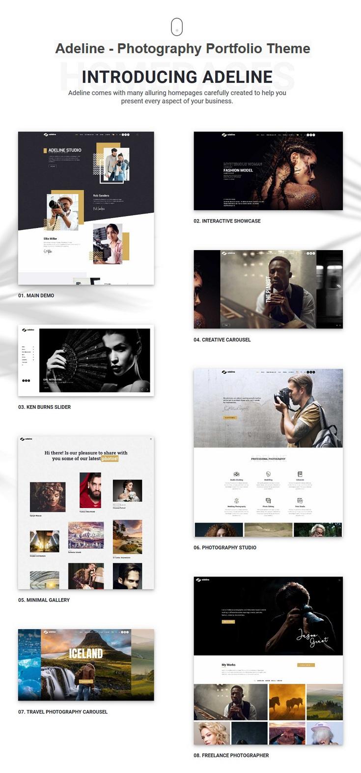 Best Photography Portfolio WordPress Theme