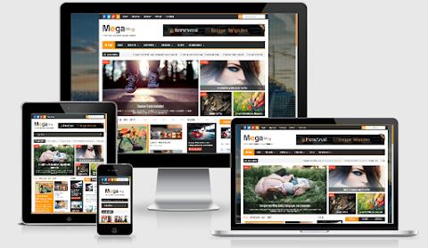 Mega Mag Blogger Template FREE download | Mega mag Blogger Theme download