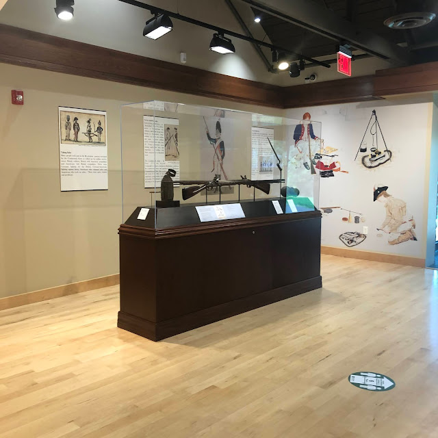 Exhibits inside the Visitor's Center provide more inght into Revolutionary War history at Washington Crossing Historic Park.
