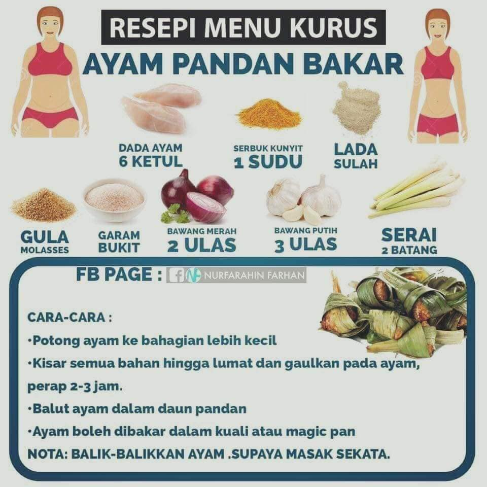 tips kurus resepi sihat sedap menu diet