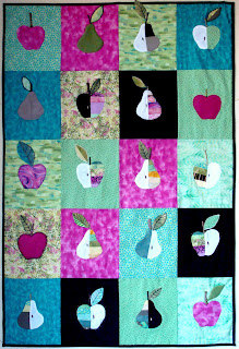 Apples and pears quilt voor het fruitteelt museum in Kappelle